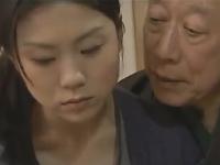 美しい人妻が爺のくせに絶倫な義父に犯される近親相姦レイプ動画