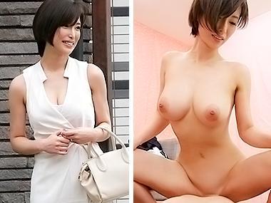 巨乳の美人妻に童貞君の筆おろしをお願いしたエロ企画SEX動画