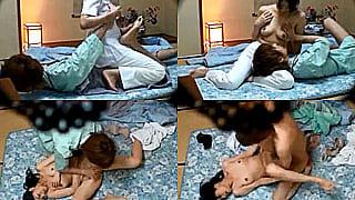 温泉旅館でおばさんマッサージ師を口説いてハメた盗撮SEX動画