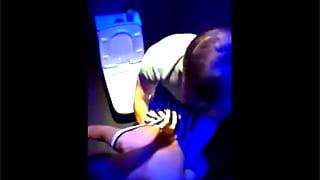 クラブトイレでナンパ巨乳娘のガチエッチ動画スマホ盗撮流出
