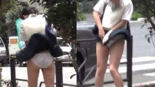有名なパンチラ・スポットで盗撮した女子校生まとめ♪素人投稿エロ動画