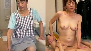 家政婦に来た熟女が若い男に誘われセックスする素人えっち動画