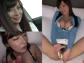 【素人★ハメ撮り】スレンダー巨乳がオナニーして着衣セックスしてるぞーwww綺麗な顔とオッパイにザーメンぶっかけだーwww|エッチな素人さま