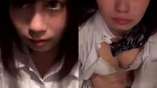 制服コスプレで着衣セックスでハメ撮りしてる素人の顔射エッチ動画