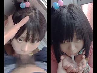 【素人★スマホ撮影】童顔な娘の口にチンコを突っ込んでイラマチオしてるぞーwwwたっぷりのザーメンを放出してるぞーwww|エッチな素人さま