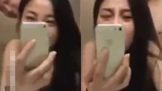 韓国人の美女が自らスマホを持って撮影した素人流出のエロ動画