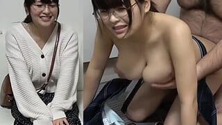 メガネがお似合いマジメ爆乳ちゃんご奉仕セックスがエロイ動画