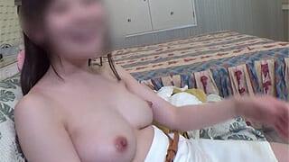 Fカップぽちゃ娘とハメ撮りしちゃった素人JDのセックス動画